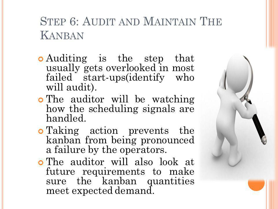 Step 6: Audit and Maintain The Kanban