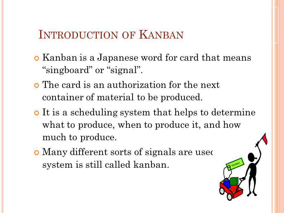 Introduction of Kanban