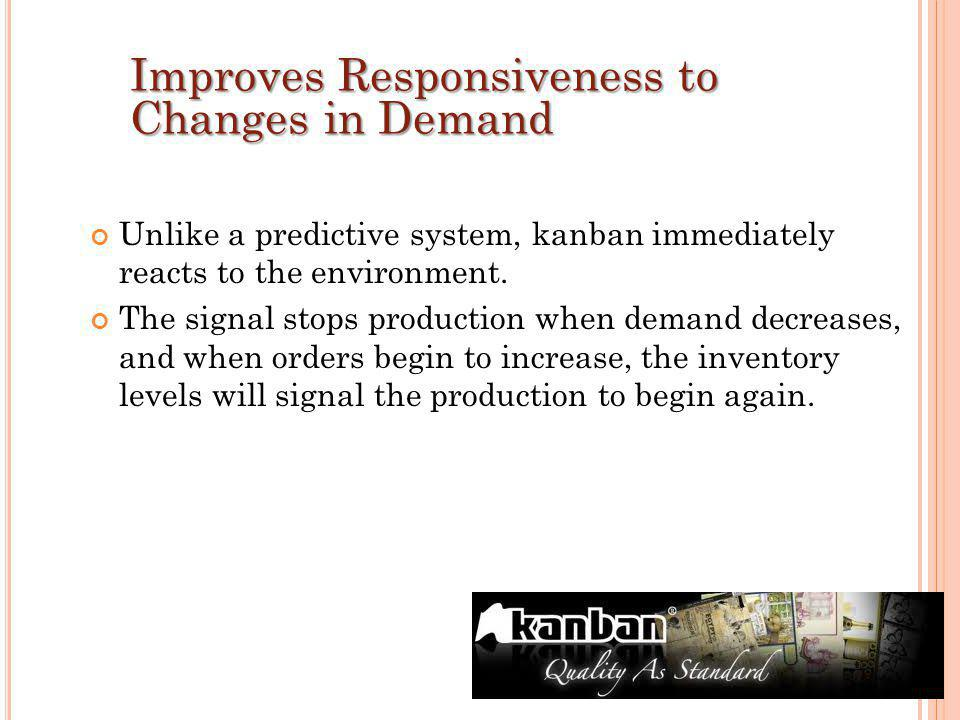 Improves Responsiveness to Changes in Demand