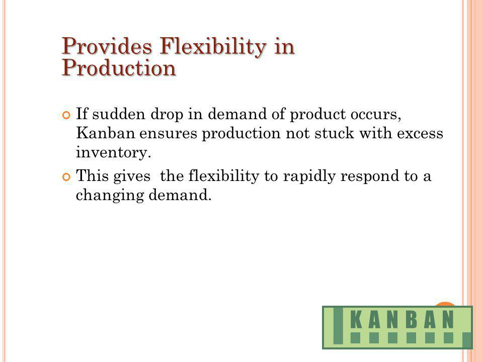Provides Flexibility in Production