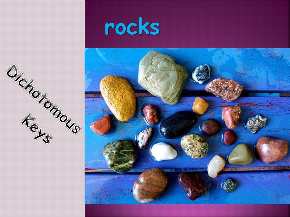 rocks Dichotomous Keys