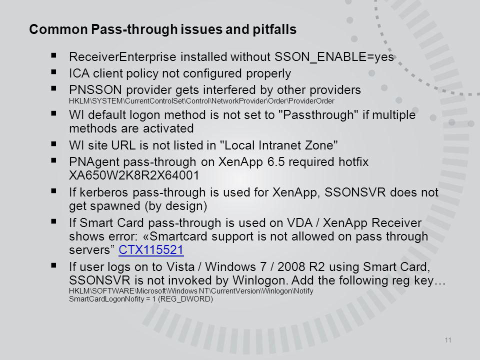Common Pass-through issues and pitfalls