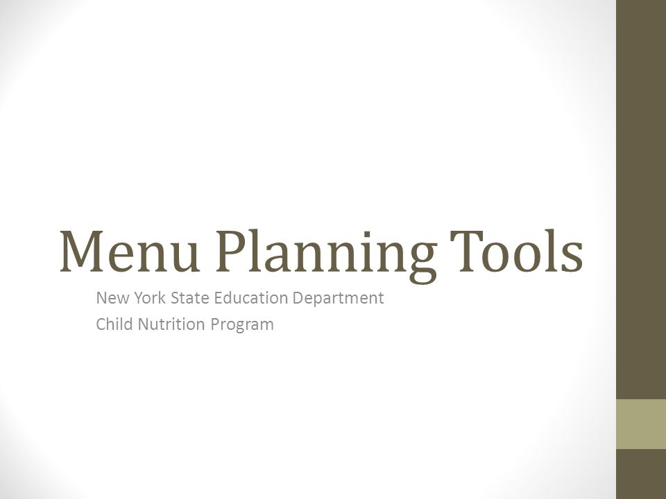 New York State Education Department Child Nutrition Program