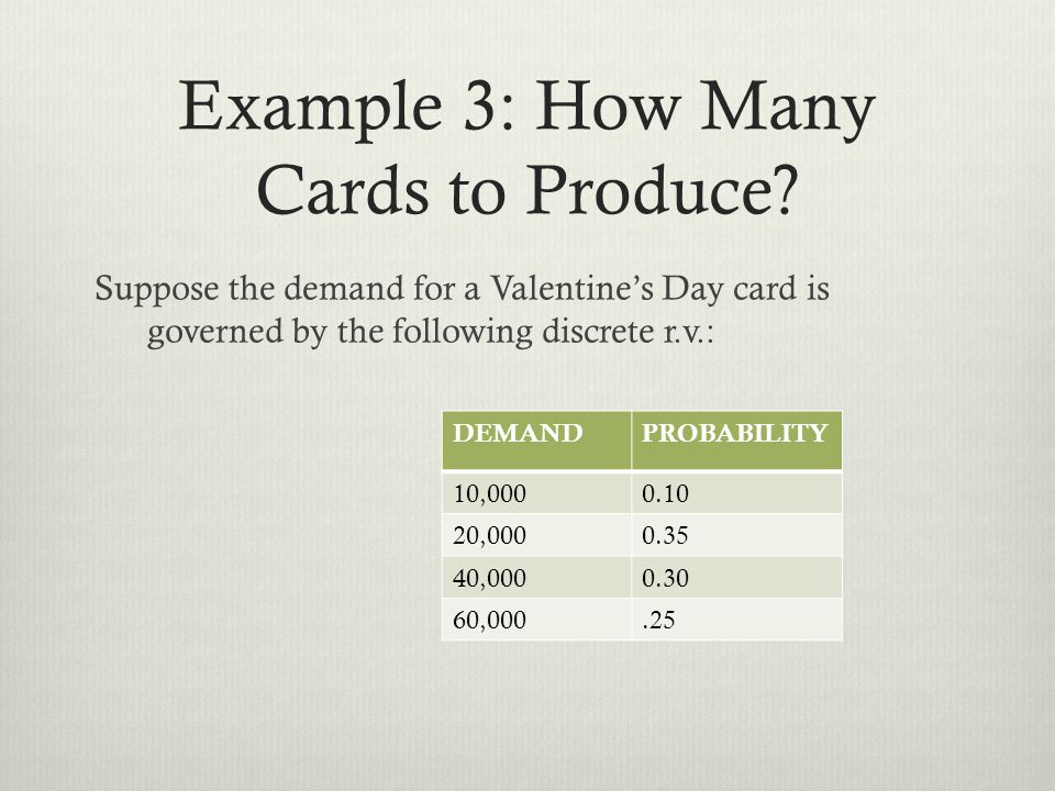 Example 3: How Many Cards to Produce