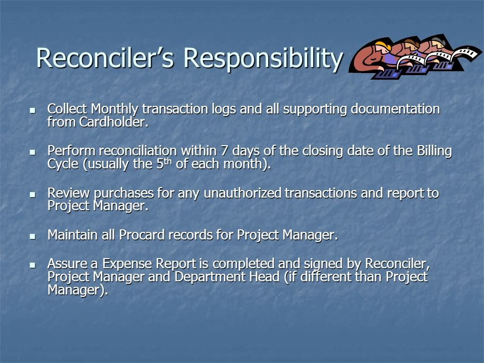 Reconciler's Responsibility