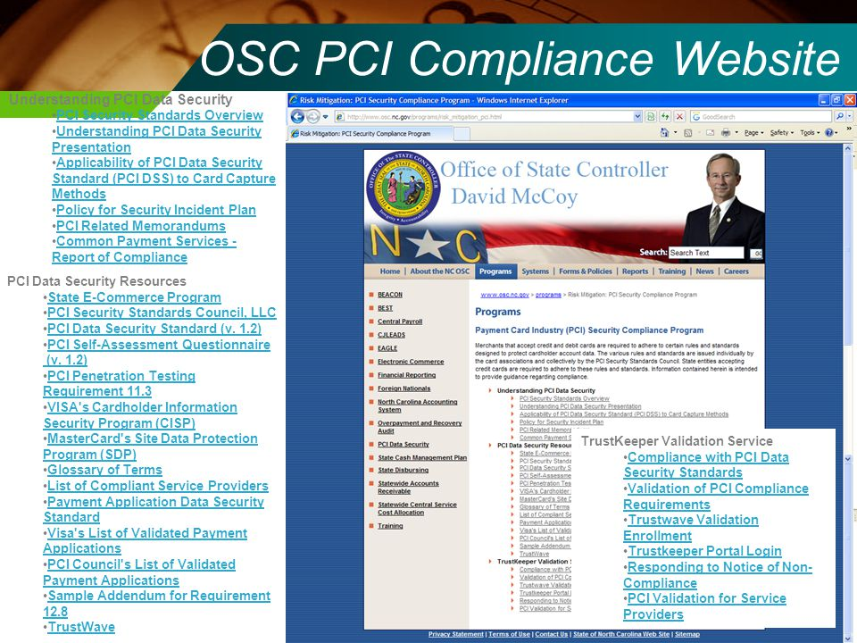 OSC PCI Compliance Website