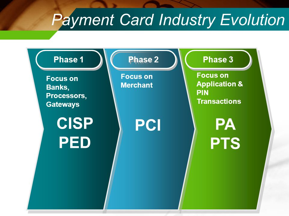 Payment Card Industry Evolution