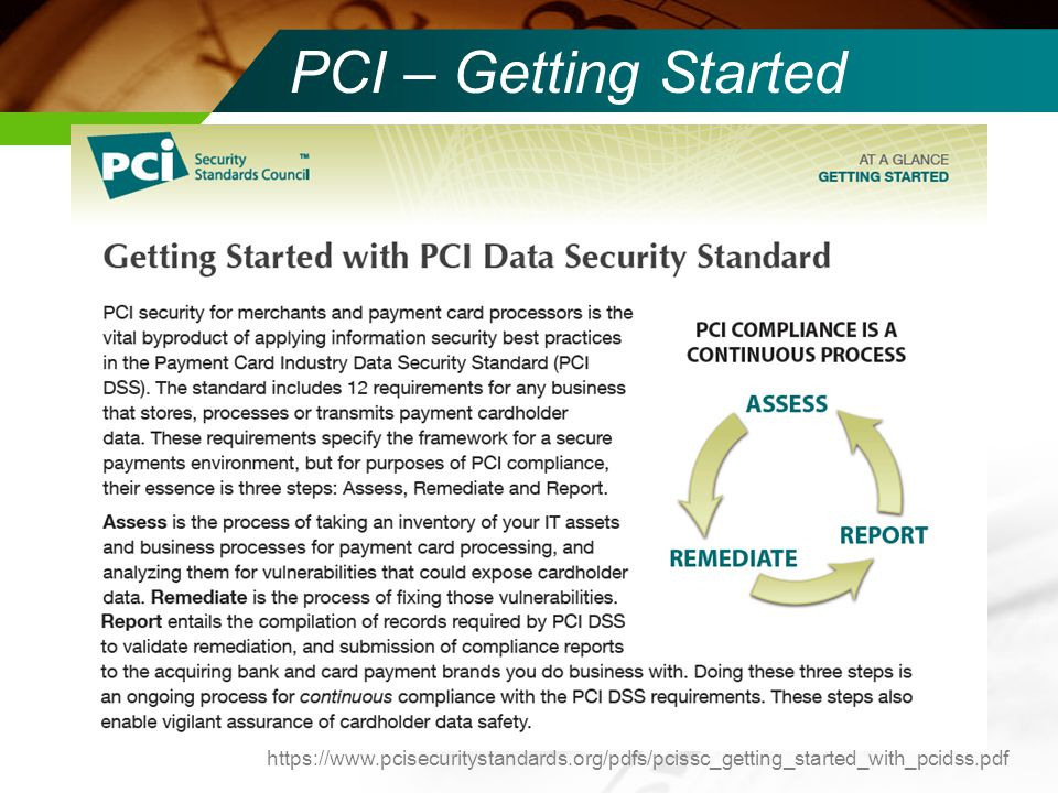 PCI – Getting Started