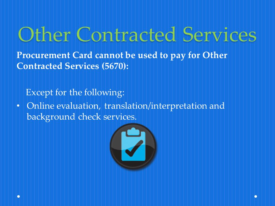 Other Contracted Services