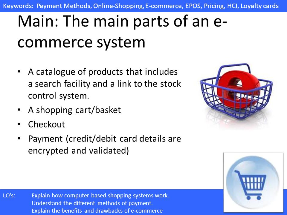 Main: The main parts of an e-commerce system