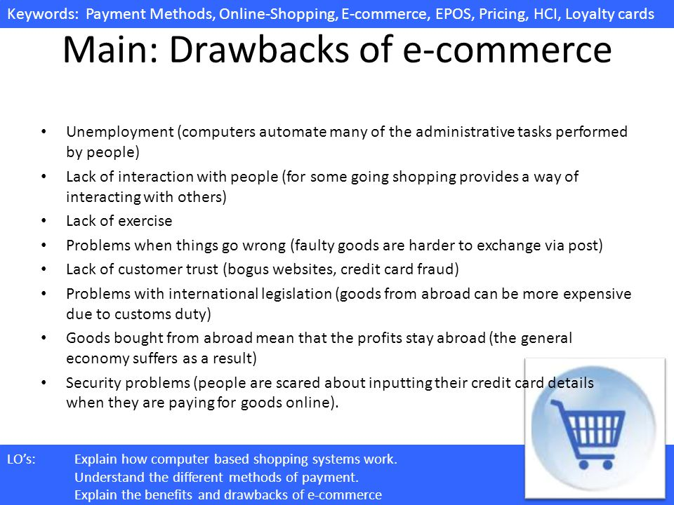 Main: Drawbacks of e-commerce