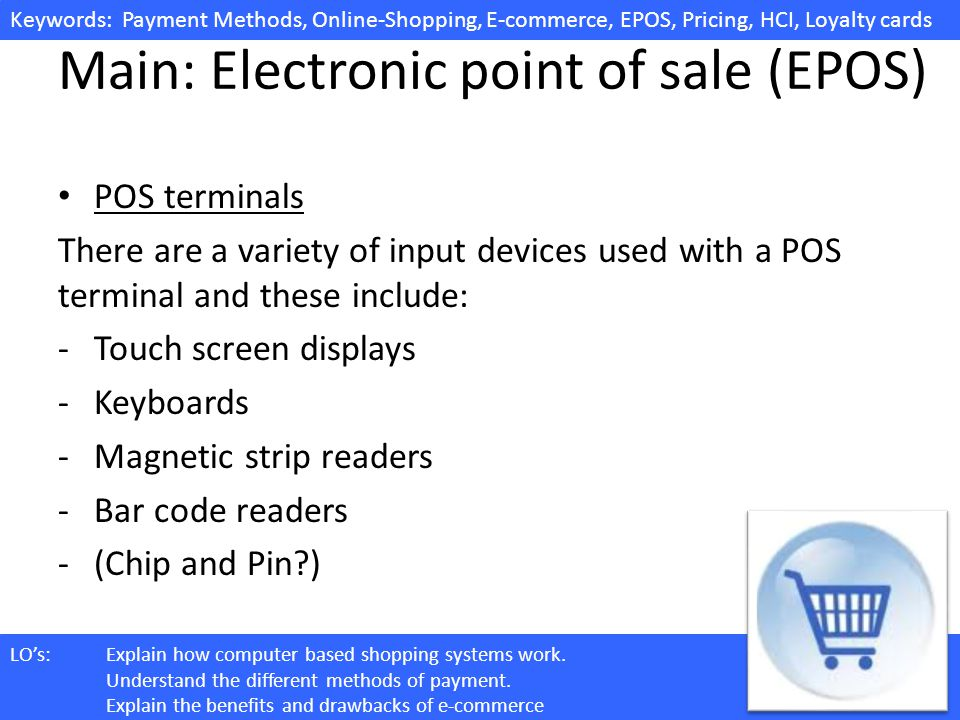 Main: Electronic point of sale (EPOS)