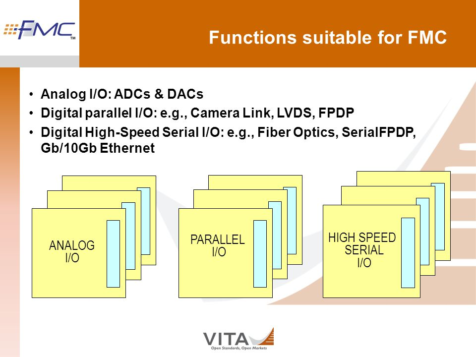 Functions suitable for FMC