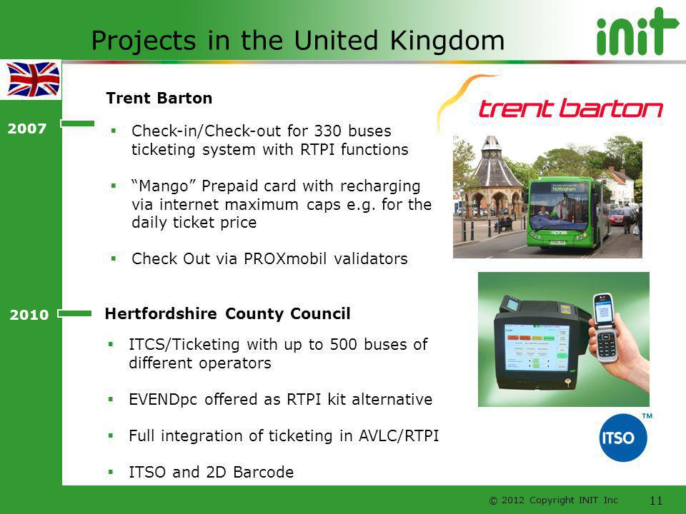 Projects in the United Kingdom