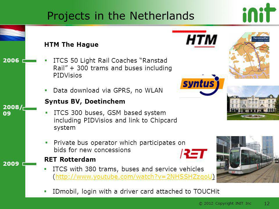 Projects in the Netherlands