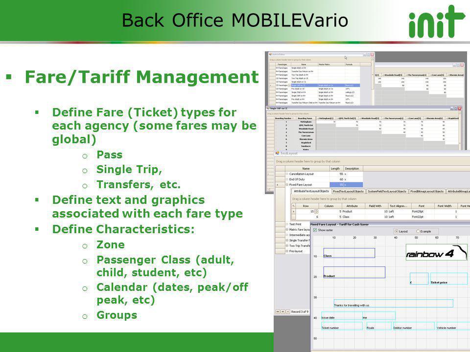 Back Office MOBILEVario