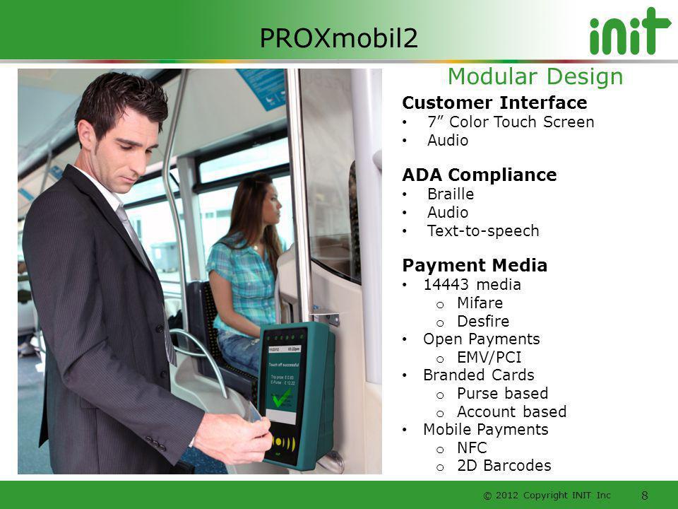 PROXmobil2 Modular Design Customer Interface ADA Compliance