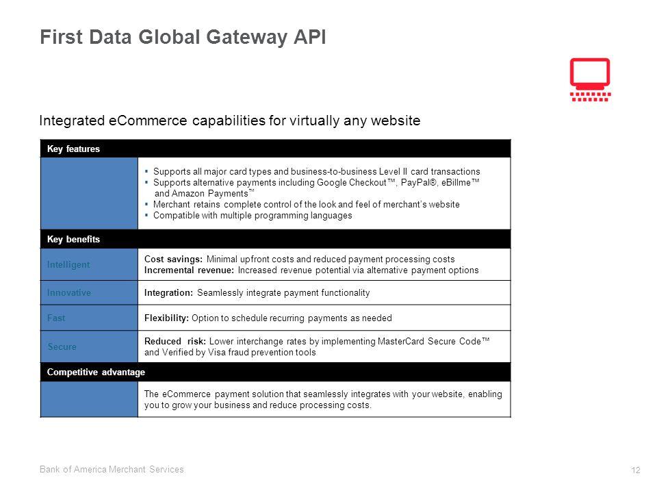 First Data Global Gateway API