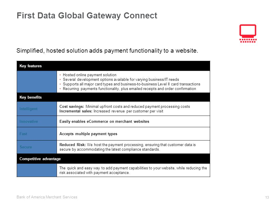 First Data Global Gateway Connect