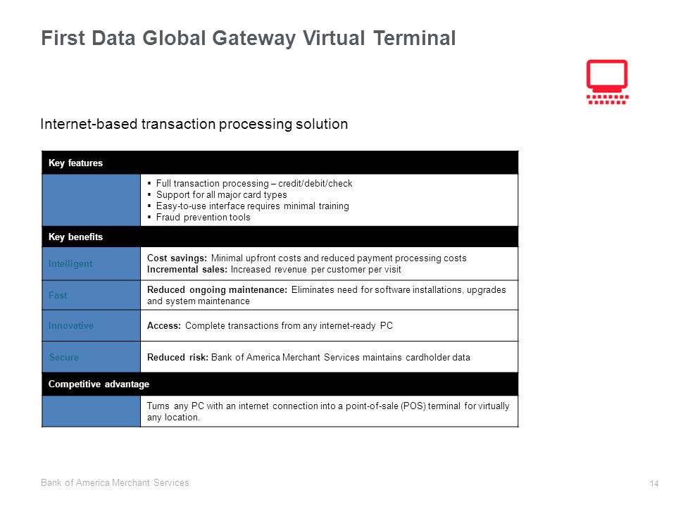 First Data Global Gateway Virtual Terminal