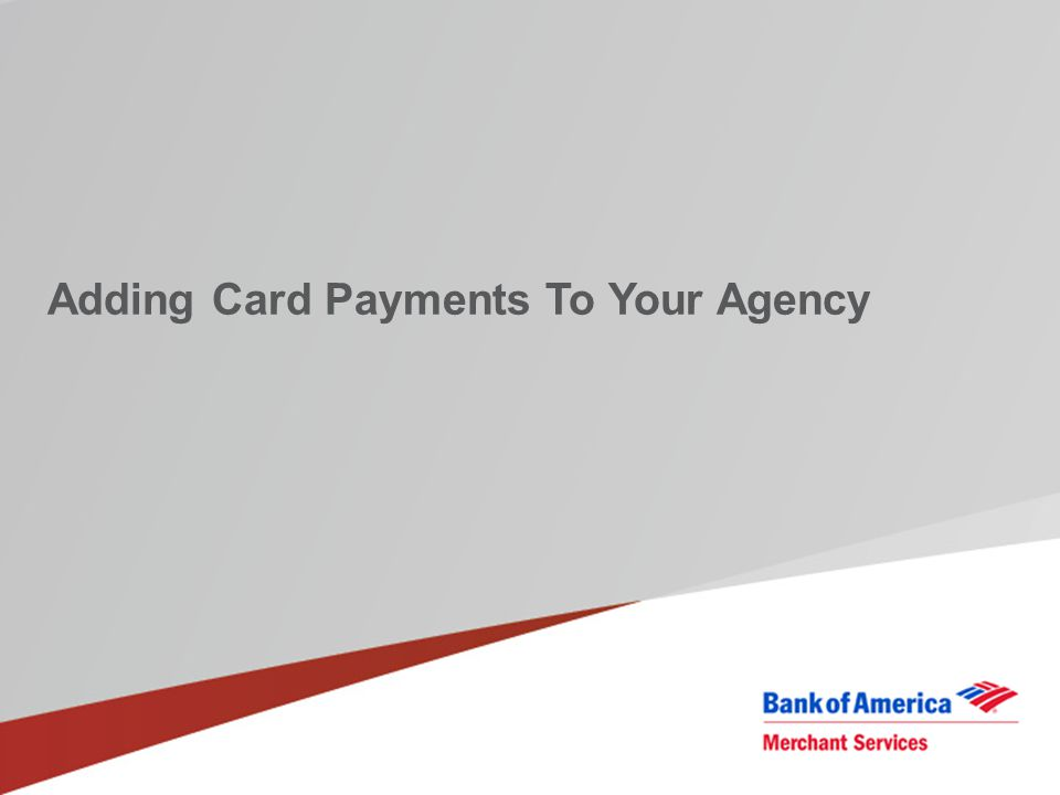 Adding Card Payments To Your Agency