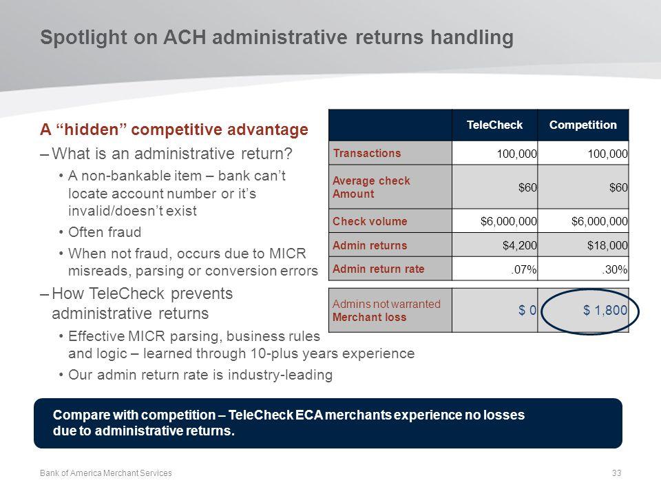 Spotlight on ACH administrative returns handling