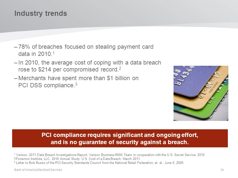 Industry trends 78% of breaches focused on stealing payment card data in 2010.1.