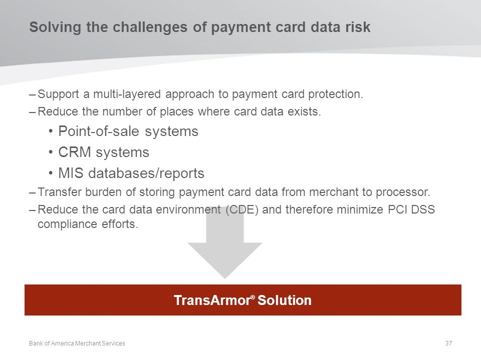 Solving the challenges of payment card data risk