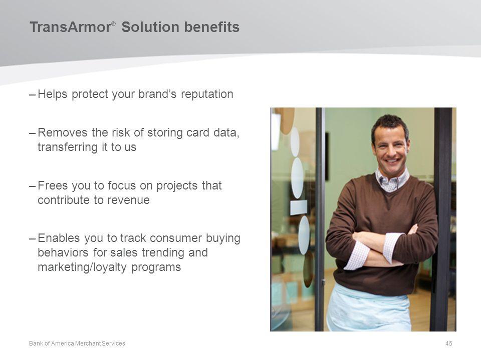 TransArmor® Solution benefits