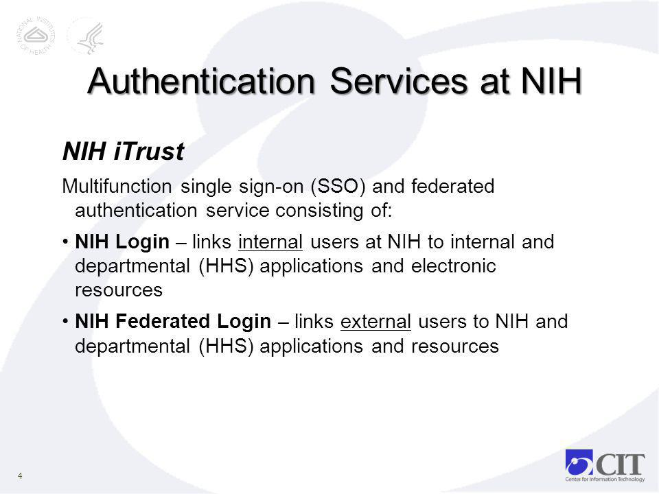 Authentication Services at NIH