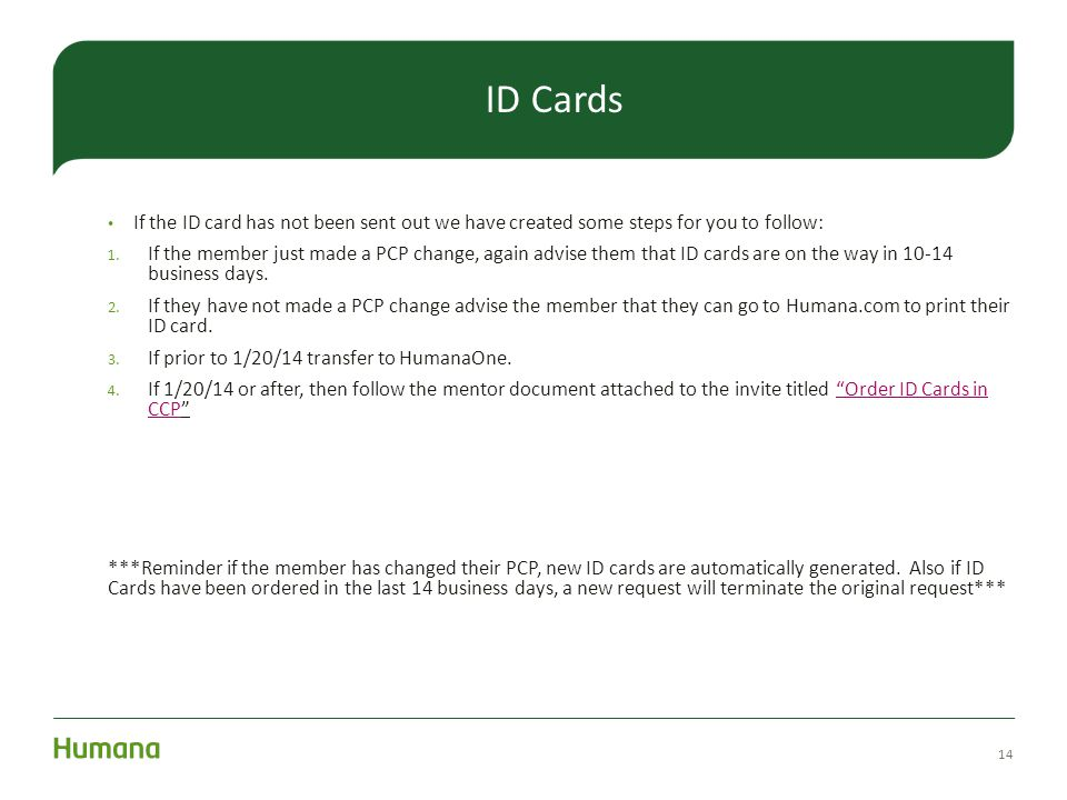 ID Cards If the ID card has not been sent out we have created some steps for you to follow: