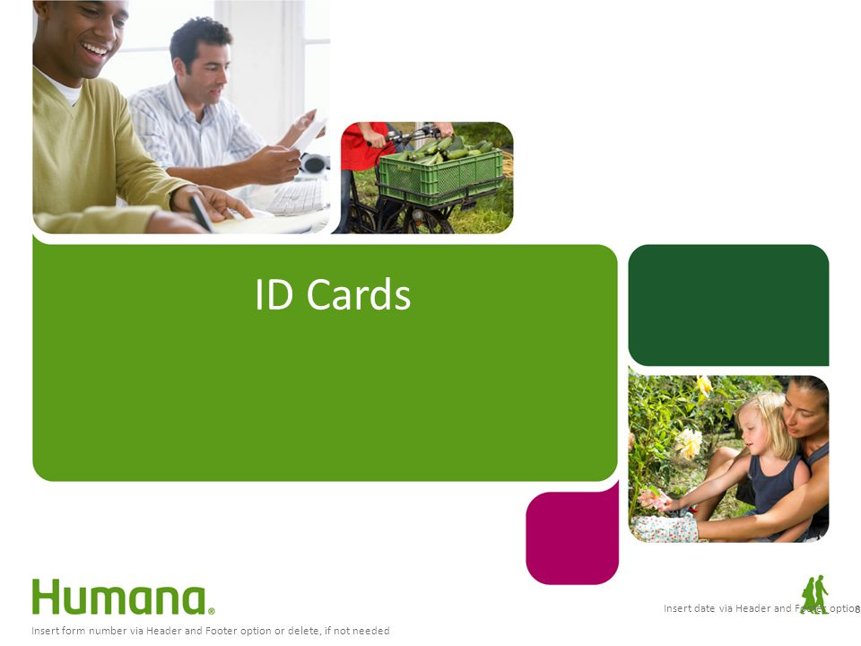 ID Cards Insert date via Header and Footer option