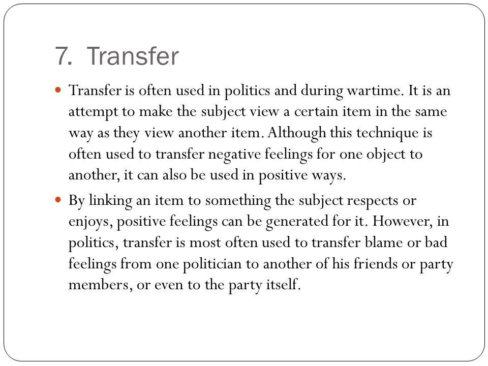 7. Transfer