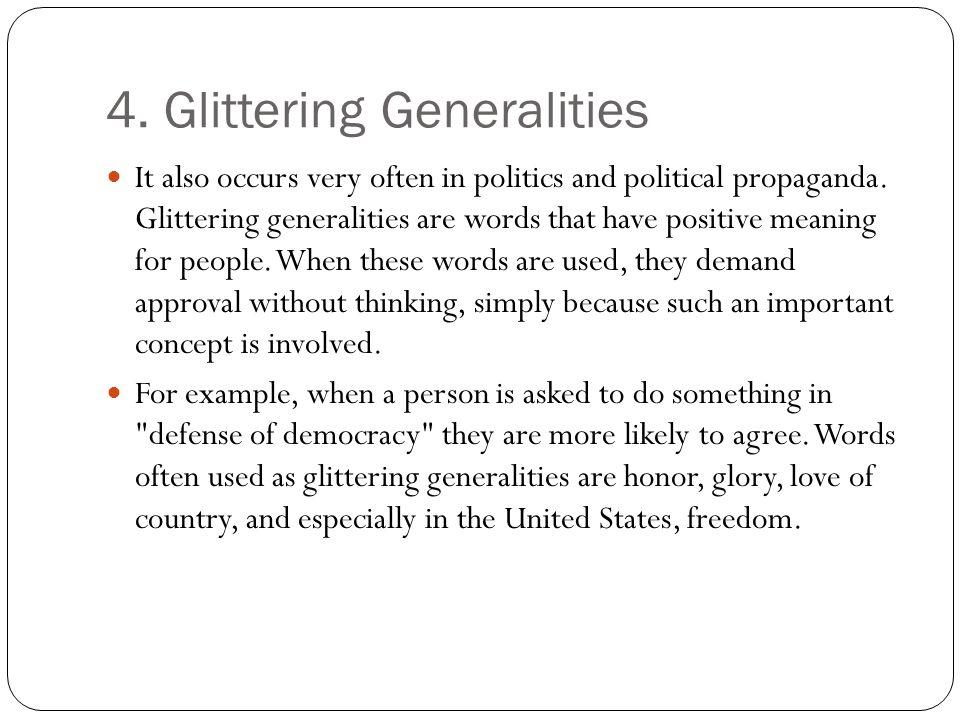 4. Glittering Generalities