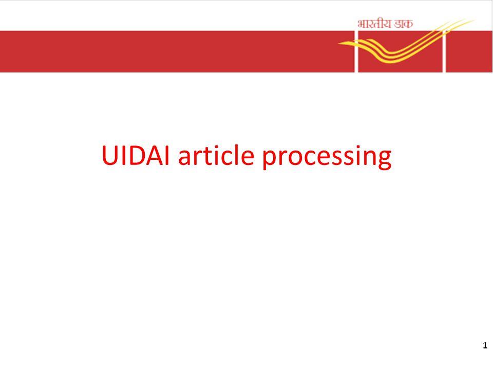 UIDAI article processing