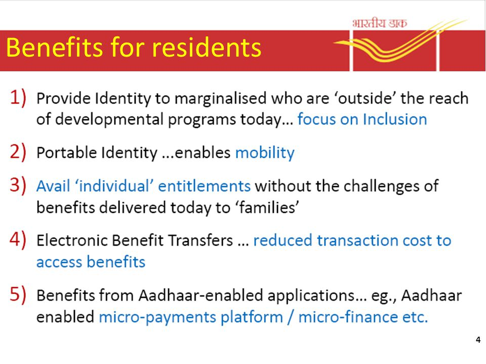 Benefits for residents