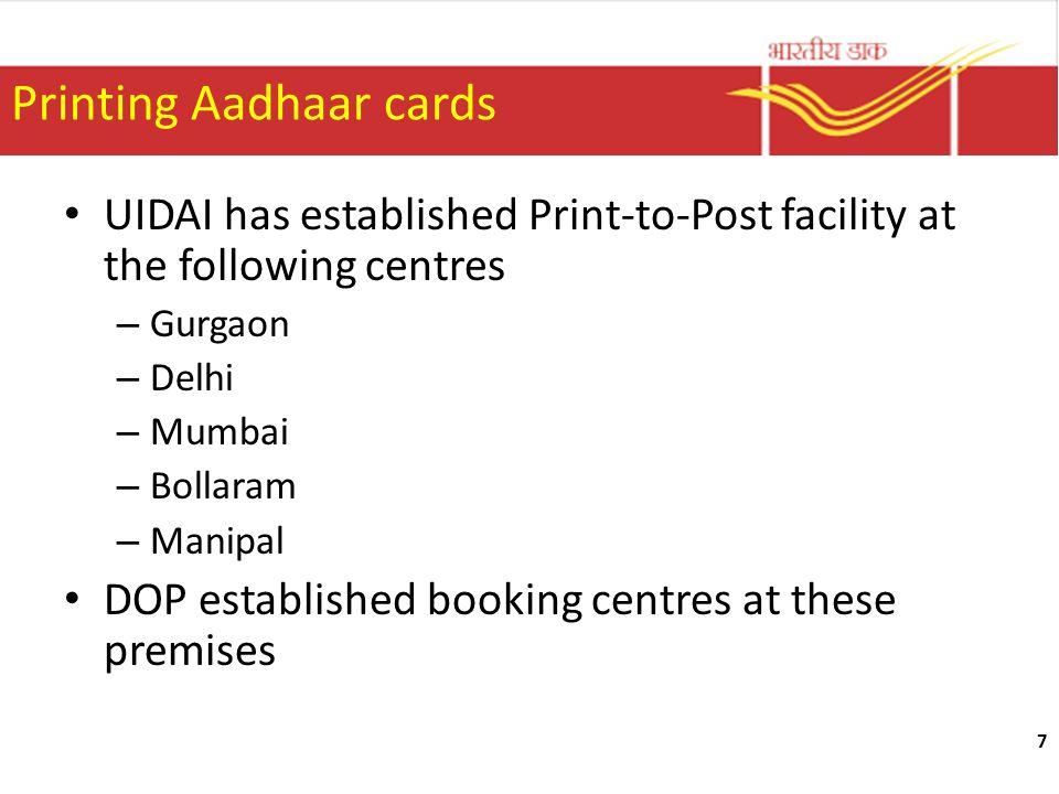 Printing Aadhaar cards