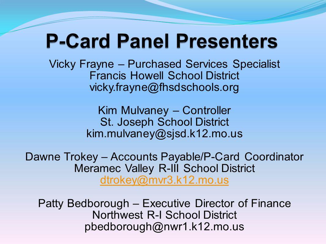 P-Card Panel Presenters