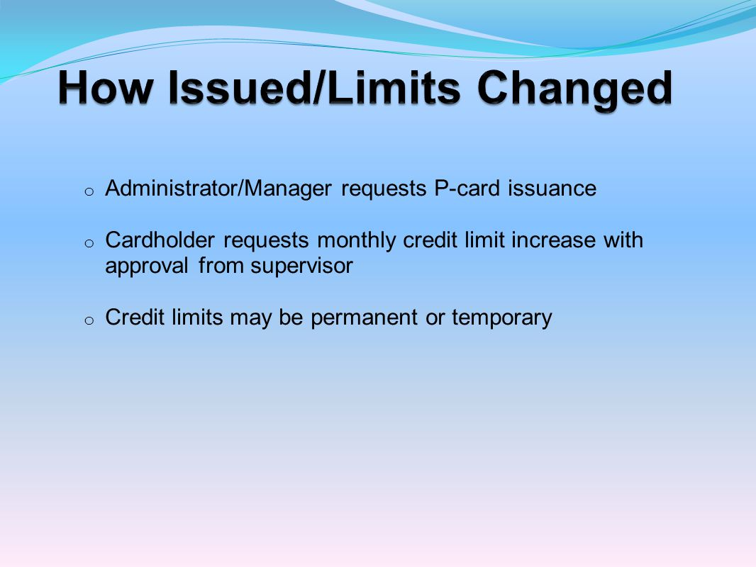 How Issued/Limits Changed