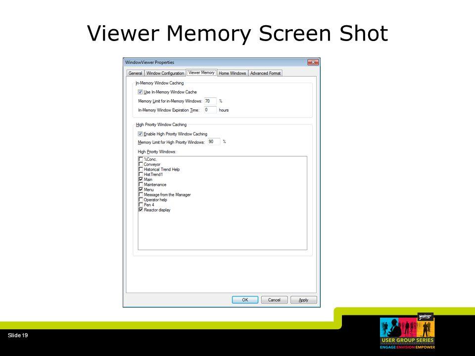 Viewer Memory Screen Shot