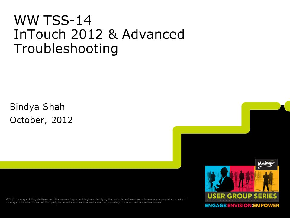WW TSS-14 InTouch 2012 & Advanced Troubleshooting