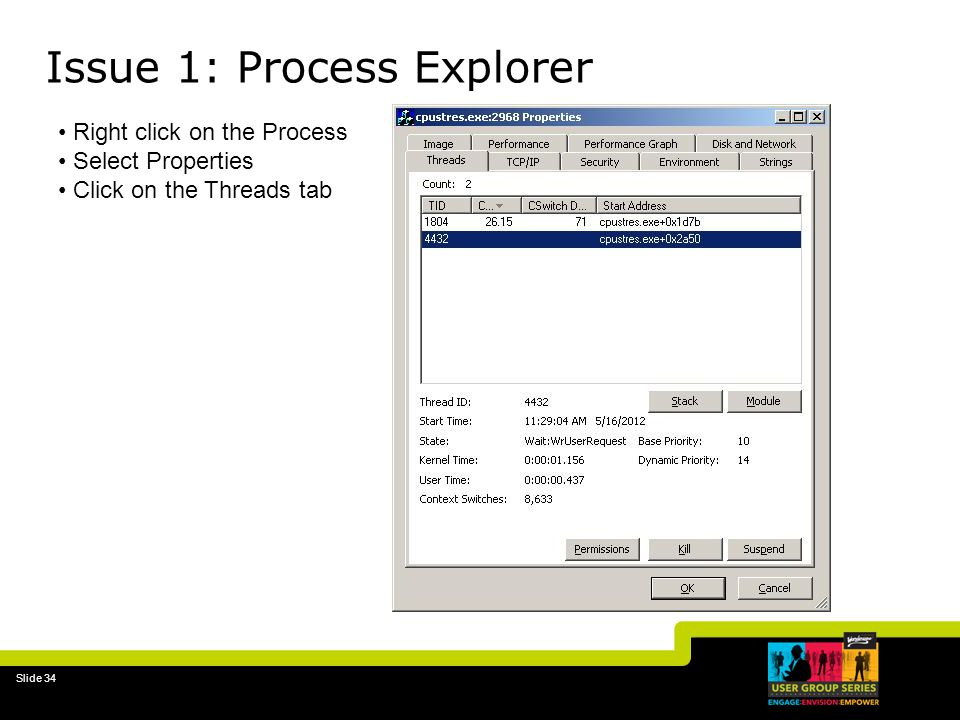 Issue 1: Process Explorer
