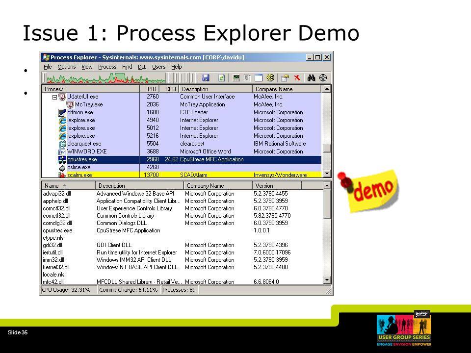 Issue 1: Process Explorer Demo