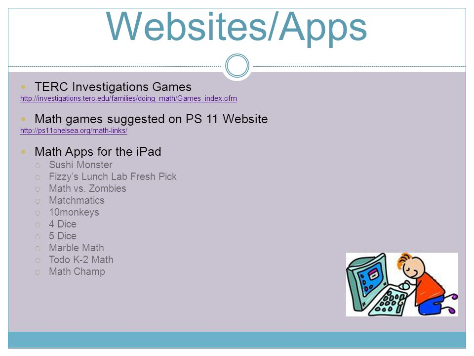 Websites/Apps TERC Investigations Games