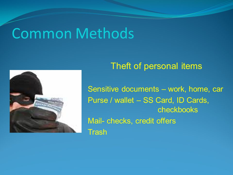 Theft of personal items