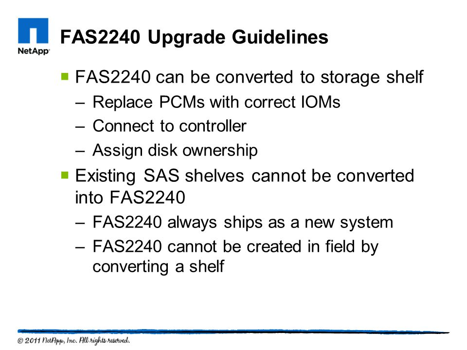 FAS2240 Upgrade Guidelines