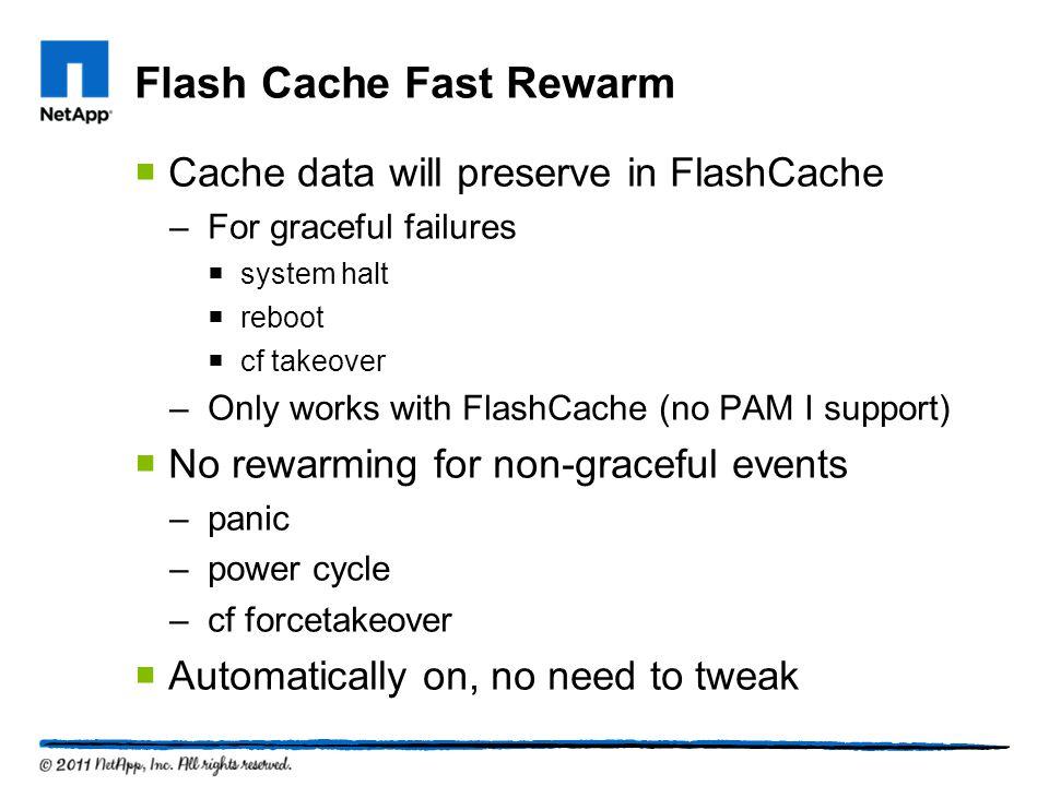Flash Cache Fast Rewarm