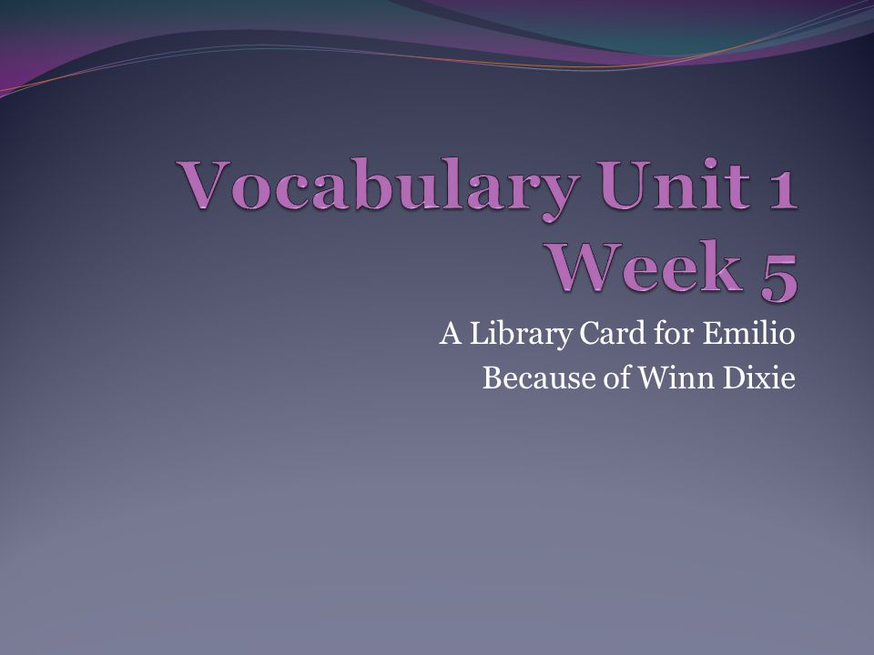 A Library Card for Emilio Because of Winn Dixie