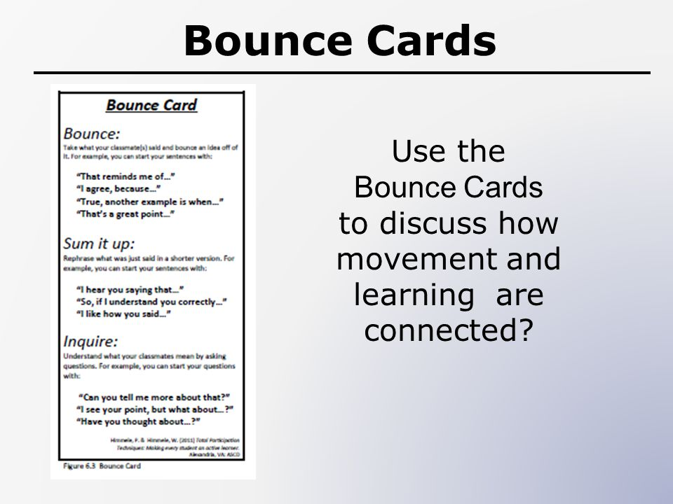 to discuss how movement and learning are connected