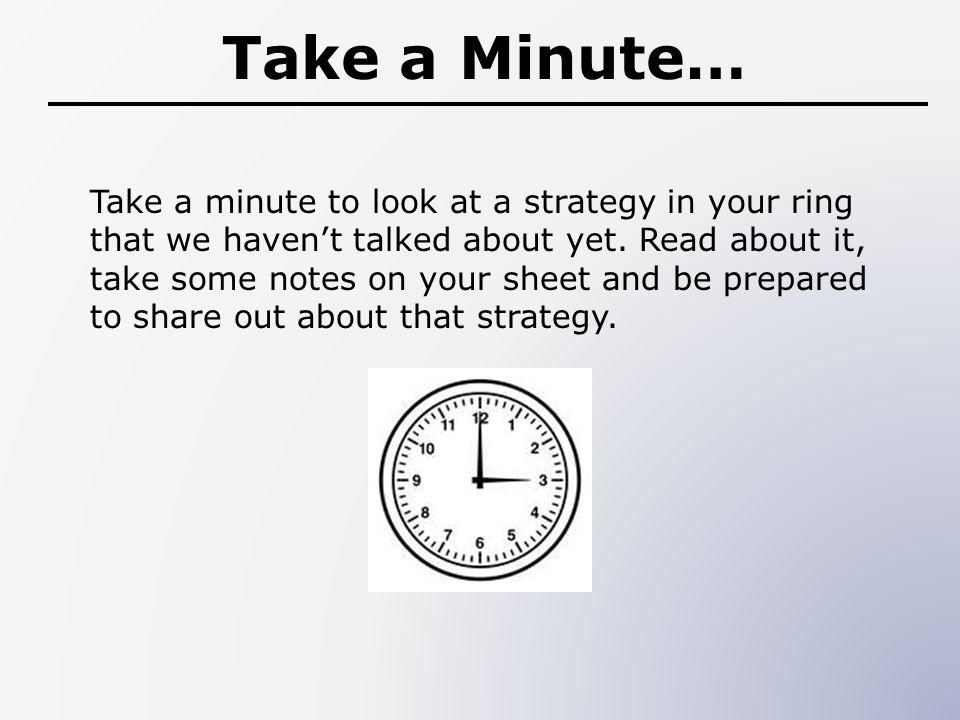 Take a Minute…
